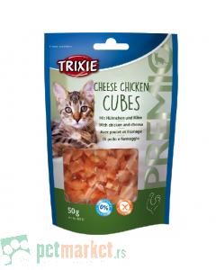 Trixie: Poslastica za mace pileće kockice sa sirom Cheese Chicken Cubes, 50 gr
