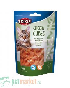 Trixie: Poslastica za mace pileće kockice Chicken Cubes, 50 gr