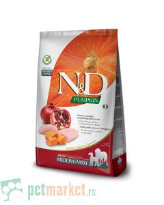 N&D Pumpkin: Hrana za pse Medium/Maxi Adult, Bundeva & Piletina