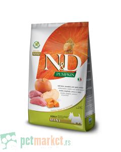 N&D Pumpkin: Hrana za pse Mini Adult, Bundeva & Divlja Svinja