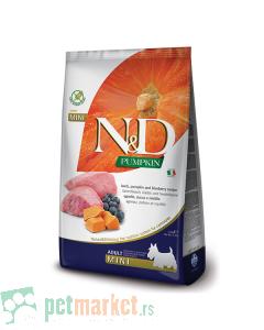 N&D Pumpkin: Hrana za pse Mini Adult, Bundeva & Jagnjetina