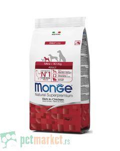 Monge Daily Line: Hrana za pse malih rasa Mini Adult, Piletina
