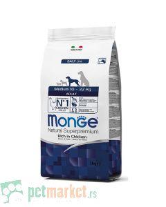 Monge Daily Line: Hrana za pse srednjih rasa Medium Adult, Piletina