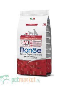 Monge Daily Line: Hrana za štence malih rasa Mini Puppy and Junior, Piletina