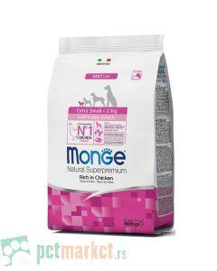 Monge Daily Line: Hrana za štence minijaturnih rasa Extra Small Puppy, Piletina, 800 gr