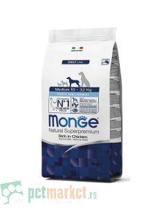 Monge Daily Line: Hrana za štence srednjih rasa Medium Puppy and Junior, Piletina