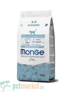 Monge: Hrana za mačiće Natural Monoprotein Kitten, Pastrmka
