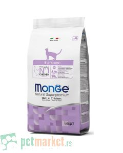 Monge: Hrana za setrilisane mačke Natural Sterilised, Piletina