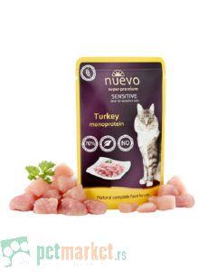Nuevo: Vlažna hrana za mačke Monoprotein Grain Free, Ćuretina, 6 x 80 gr (170 din/kom)