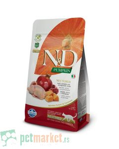 N&D Grain Free: Hrana za sterilisasene mačke, Prepelica