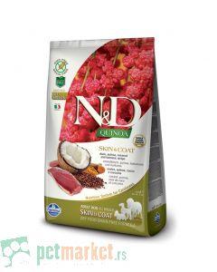N&D Grain Free: Skin & Coat, Kinoa & Pačetina