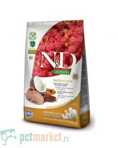 N&D Quinoa: Hrana za pse sa problematičnom kožom Skin & Coat, Kinoa & Prepelica