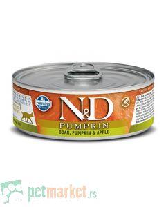 N&D Grain Free: Vlažna hrana za mačke, Bundeva i Divlja svinja