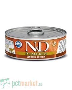 N&D Grain Free: Vlažna hrana za mačke, Bundeva i Jelen