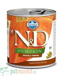 N&D Grain Free: Vlažna hrana za pse Adult, Bundeva i Jelen