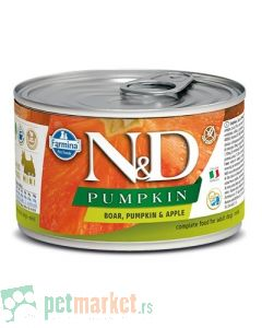 N&D Grain Free: Vlažna hrana za pse Mini Adult, Bundeva i Divlja svinja