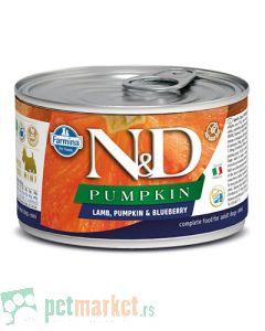N&D Grain Free: Vlažna hrana za  pse Mini Adult, Bundeva i Jagnjetina
