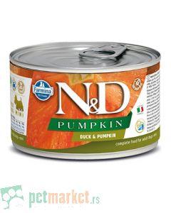 N&D Grain Free: Vlažna hrana za pse Mini Adult, Bundeva i Pačetina