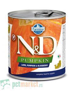 N&D Grain Free: Vlažna hrana za štence Puppy, Bundeva i Jagnjetina