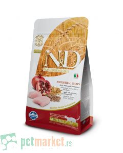 N&D Low Grain: Hrana za sterilisane mačke, Piletina & Nar