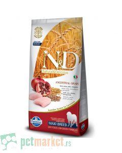 N&D Low Grain: Maxi Adult, Piletina & Nar