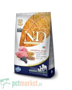 N&D Low Grain: Medium Adult, Jagnjetina & Borovnica