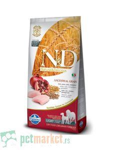 N&D Low Grain: Medium/Maxi Light, Piletina & Nar