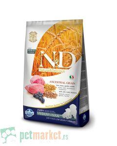 N&D Low Grain: Medium/Maxi Puppy, Jagnjetina i Borovnica