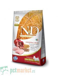 N&D Low Grain: Mini Adult, Piletina i Nar