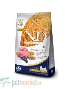 N&D Low Grain: Mini Adult, Jagnjetina & Borovnica
