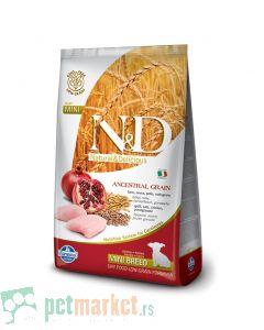 N&D Low Grain: Mini Puppy, Piletina & Nar