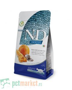 N&D Ocean: Hrana za odrasle mačke, Bundeva i Haringa