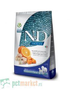 N&D Ocean: Hrana za pse Medium/Maxi Adult, Bundeva i Bakalar