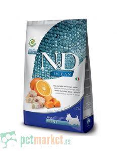 N&D Ocean: Hrana za pse Mini Adult, Bundeva i Bakalar