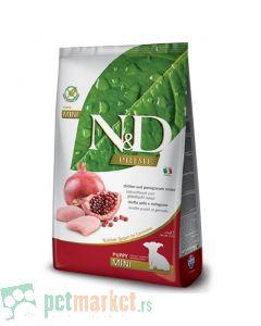 N&D Prime: Hrana za štence malih rasa Mini Puppy, Piletina i Nar, 2.5 kg