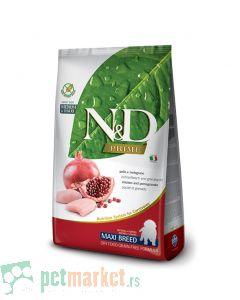 N&D Prime: Hrana za štence velikih rasa Maxi Puppy, Piletina i Nar