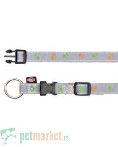 Trixie: Reflektujuća ogrlica za pse, narandžasto/siva