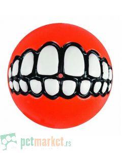 Rogz: Lopta sa zubima Grinz Ball, narandžasta