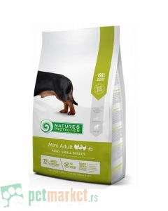 Nature`s Protection Super Premium: Hrana za odrasle pse malih rasa Mini Adult, Živina i Račići