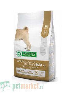 Nature`s Protection Super Premium: Hrana za sterilisane pse sklone gojenju Adult Weight Control Sterilised, Živina i Račići, 12 kg