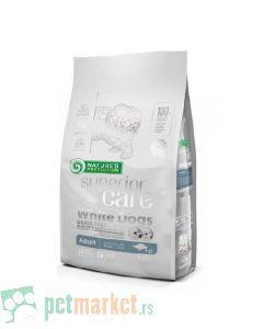 Nature`s Protection Superior Care: Hrana za pse malih rasa sa belom dlakom Adult Grain Free, Bela Riba, 1.5 kg