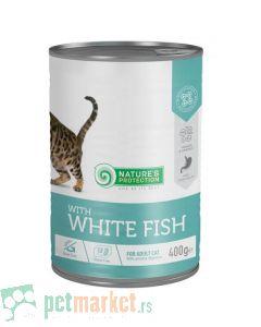Nature's Protection: Vlažna hrana za mačke sa osetljivim digestivnim traktom, Riba, 400 gr