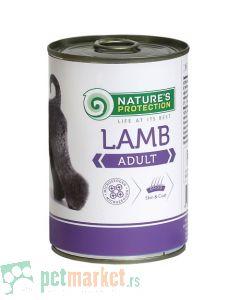Nature's Protection: Vlažna hrana za odrasle pse Adult, Jagnjetina, 400 gr