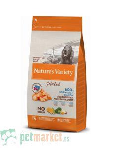 Nature's Variety: Hrana za pse Selected Medium/Maxi Adult, Losos