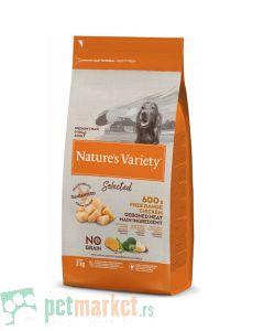 Nature's Variety: Hrana za pse Selected Medium/Maxi Adult, Piletina