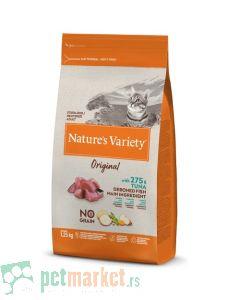 Nature's Variety: Hrana za sterilisane mačke Sterilised Original Grain Free, Tuna, 1.25 kg