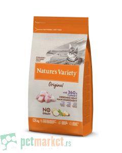 Nature's Variety: Hrana za sterilisane mačke Sterilised Original Grain Free, Ćuretina