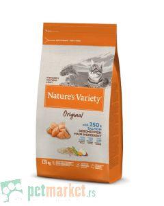 Nature's Variety: Hrana za sterilisane mačke Sterilised Grain Original, Losos