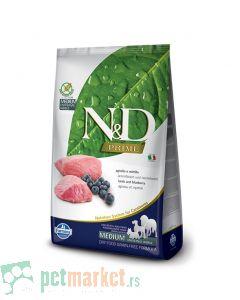 N&D Prime: Hrana za pse Mini Adult, Jagnjetina i Borovnica