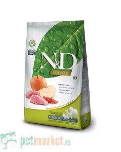 N&D Prime: Hrana za pse Medium/Maxi Adult, Jabuka i Divlja svinja